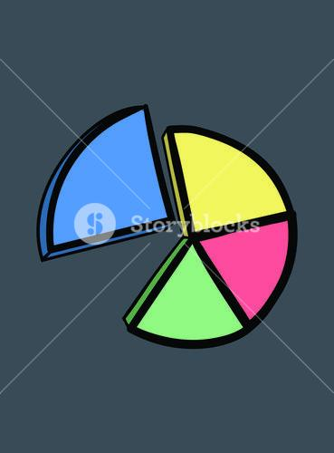 Vector icon of pie graph