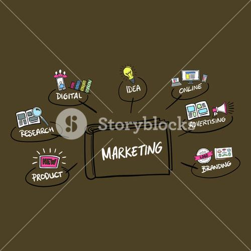 Vector icon of marketing concepts