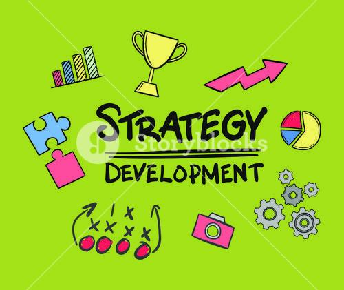 Vector icon of strategy development