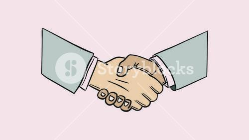 Vector icon of business partnership