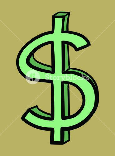 Vector icon of dollar sign