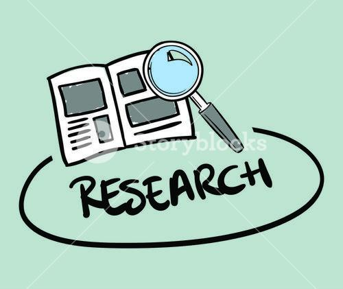 Vector icon of research