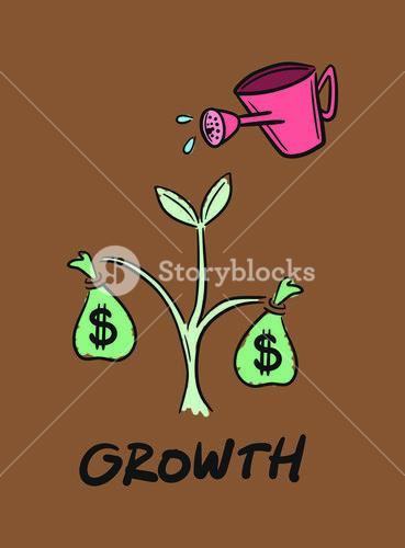 Vector icon of financial growth