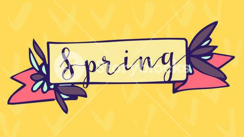 Greeting card with spring message