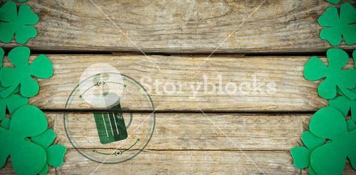 Composite image of composite image of st patrick day with beer mug symbol
