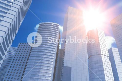 Composite image of blurry animated flare 3d