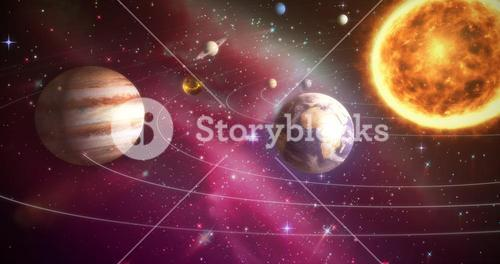 Composite image of solar system against white background 3d