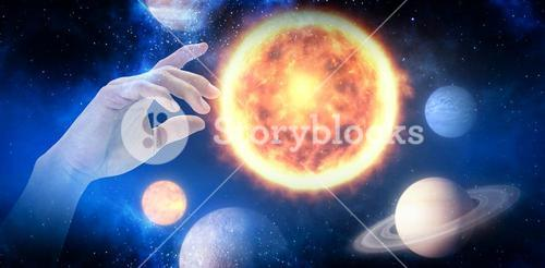 Composite image of hand of man pretending to touch an invisible screen 3d