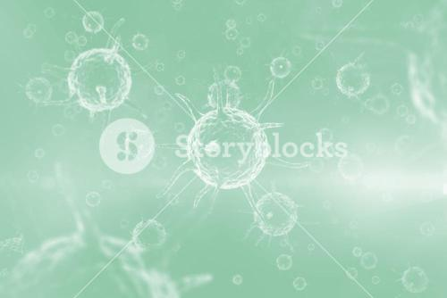 Graphic image of green virus