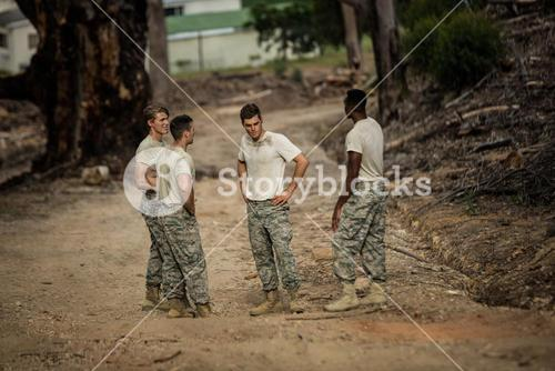 Soldiers having a conversation