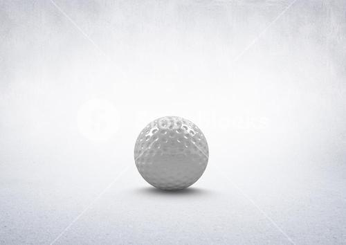3D Golf ball with white background