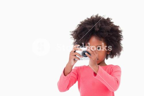 Girl taking a picture