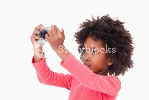 Cute girl taking a picture