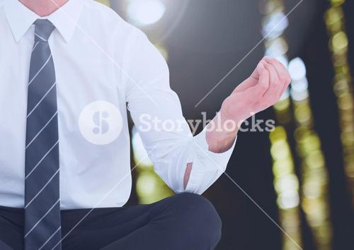 Man Meditating peaceful in woods
