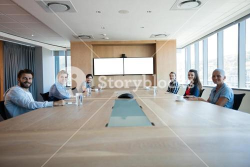 Creative business team having a meeting in conference room