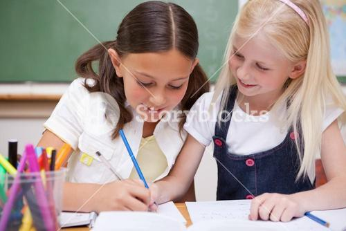 Pupils drawing together