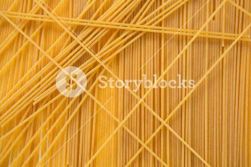 Full frame of spaghetti pasta