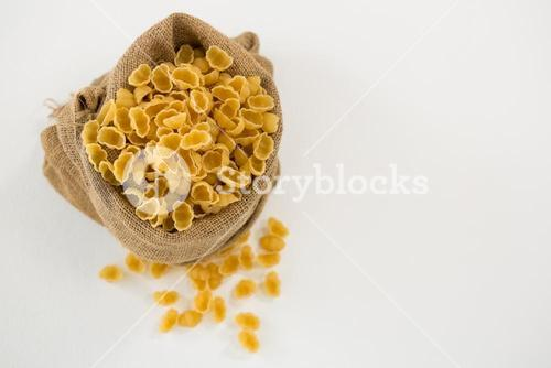 Sack full of pasta
