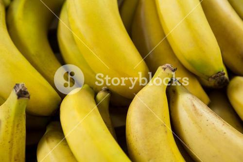 Full frame of bananas