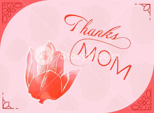 Greeting card with mothers day message