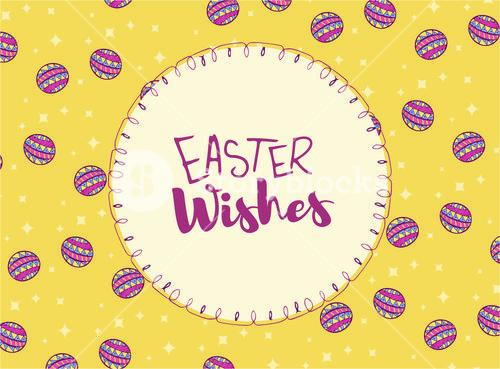 Greeting card with easter wishes