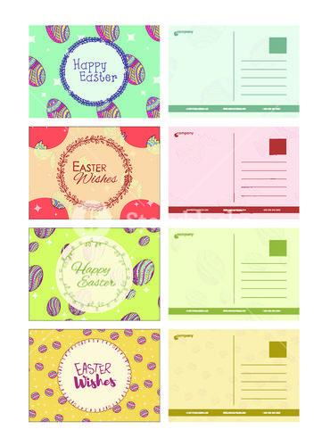 Vector set of easter card templates