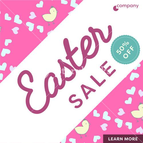 Card with easter sale message