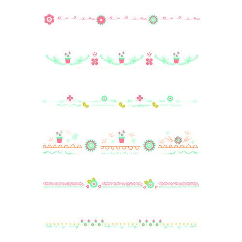 Vector set of decorated buntings