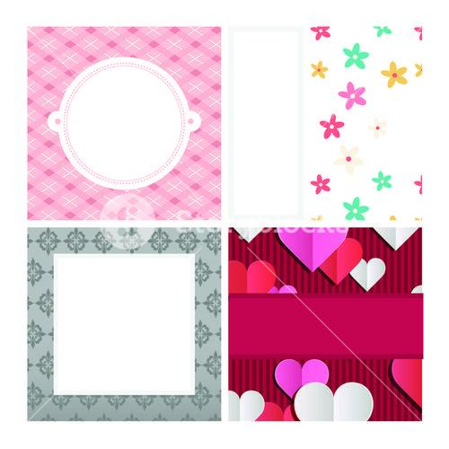 Vector set of frames with different patterns