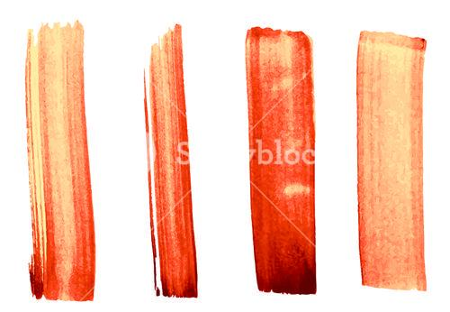 Vector set of painted strokes