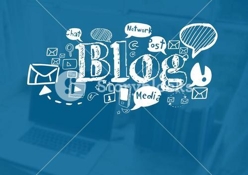 Blog text with drawings graphics