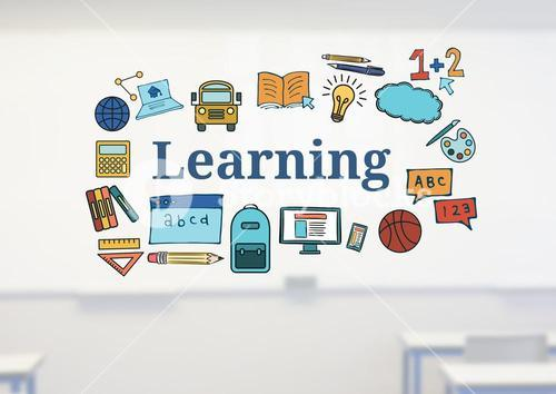 Learning text with drawings graphics