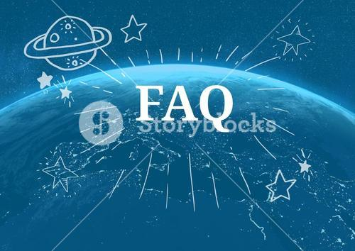 FAQ text with drawings graphics