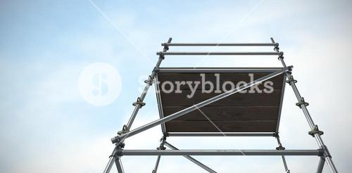 Composite image of three dimension image of scaffolding 3d