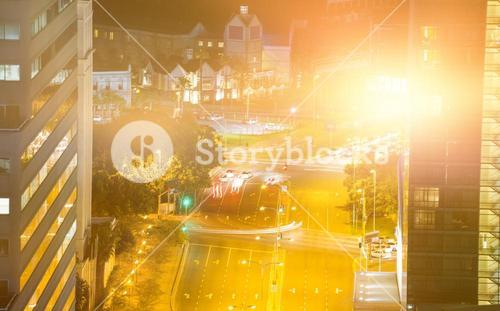 Composite image of blurry animated flare