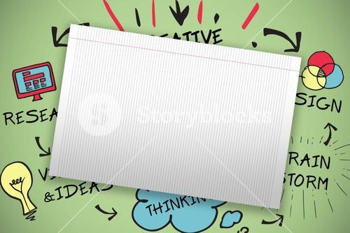 Composite image of single lined blank paper