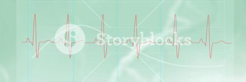 Composite image of digitally generated image of electrocardiography 3d
