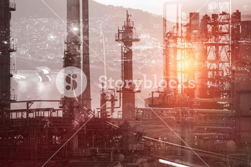 Composite image of view of industry