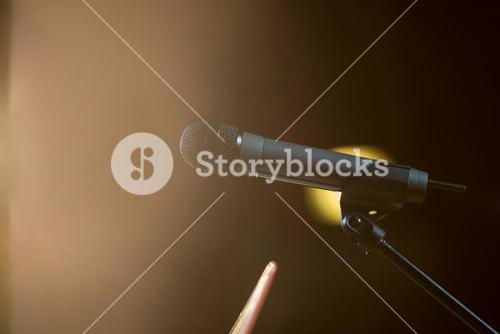 Microphone in conference room