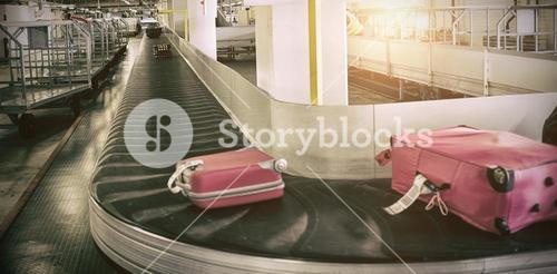 Luggage on baggage claim