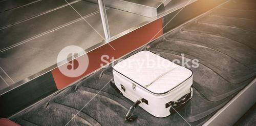 High angle view of baggage claim