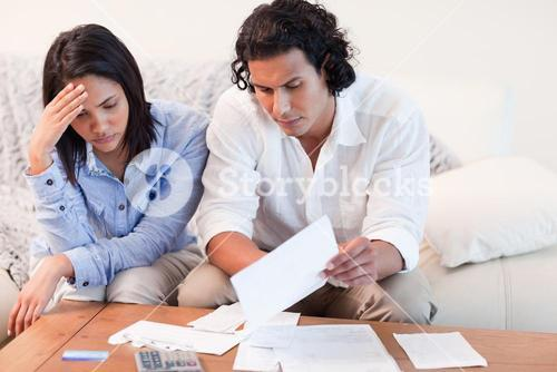 Couple depressed about financial problems