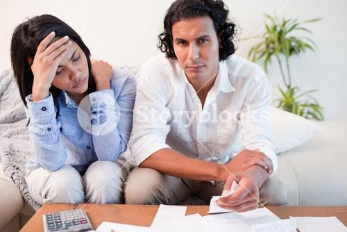 Couple experiencing financial problems