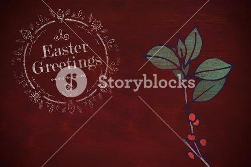 Composite image of happy easter white logo against a black background
