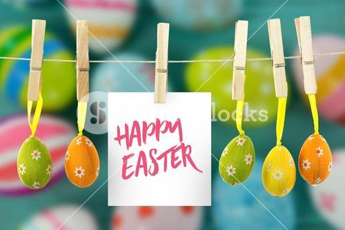 Composite image of happy easter logo