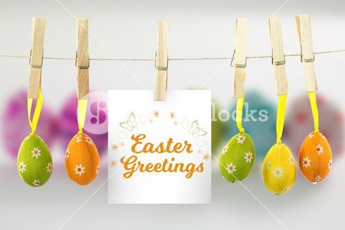 Composite image of easter greetings logo