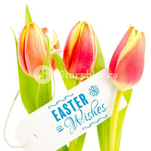 Composite image of easter wishes logo against white background