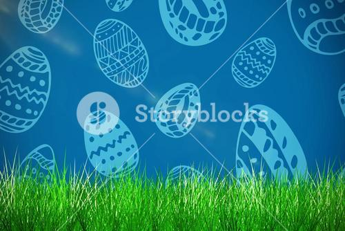 Composite image of grass and white background
