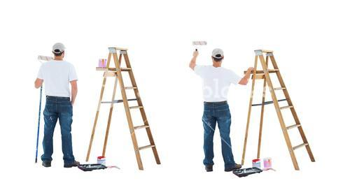 painter with ladder