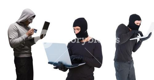 hackers group with the computer